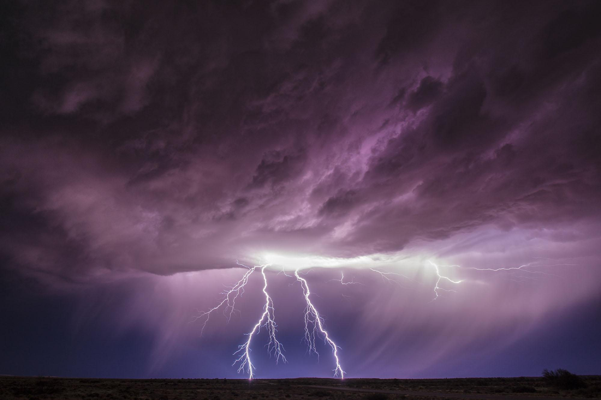 Gewitter - Blitze, Südaustralien